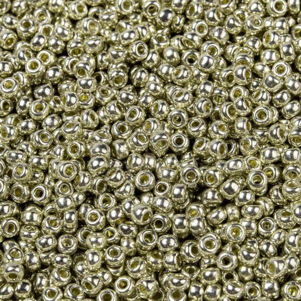 X SEED G008 RR4201 1 MIYUKI 8-4201 Round Rocailles Beads 8/0, RR4201 Transparent Duracoat Galvanized Silver, 10g/bag
