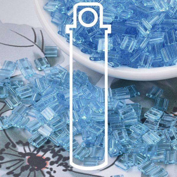 X SEED J020 TL0148 3 1 MIYUKI TILA TL148 Transparent Aqua Seed Beads, 10g/Tube