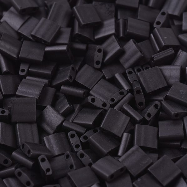 X SEED J020 TL0401F 1 MIYUKI TILA TL401F Matte Black Seed Beads, 100g/Bag