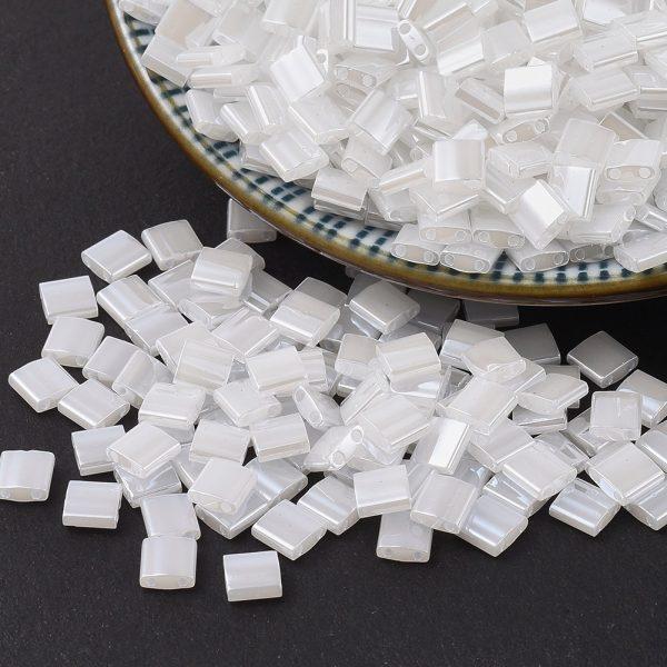 X SEED J020 TL0511 3 MIYUKI TILA TL511 Crystal Ceylon Seed Beads, 100g/Bag