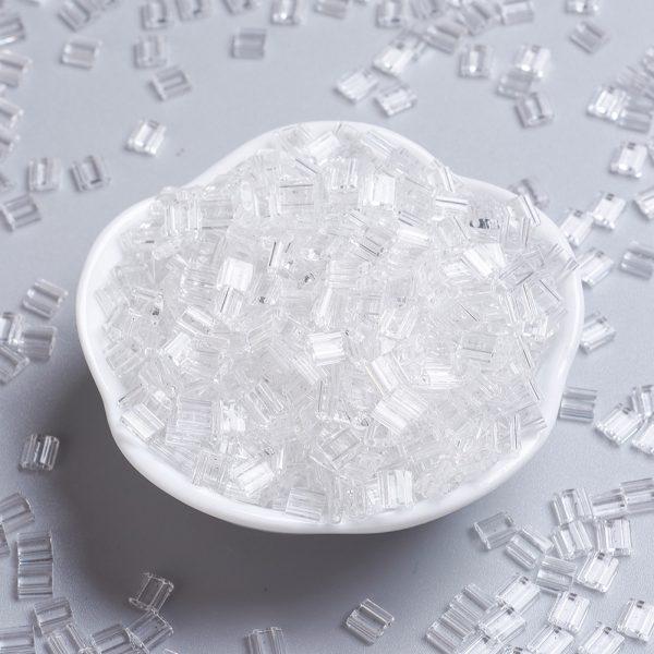 X SEED J020 TL131 MIYUKI TILA TL131 Crystal Seed Beads, 100g/Bag
