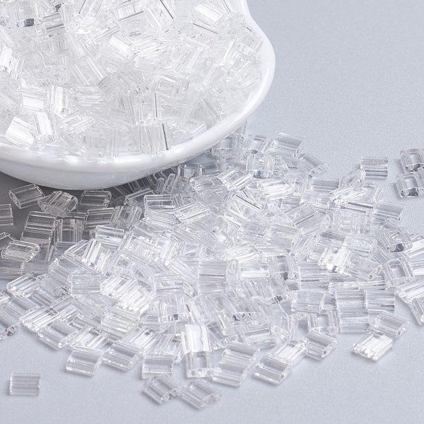X SEED J020 TL131 2 MIYUKI TILA TL131 Crystal Seed Beads, 100g/Bag