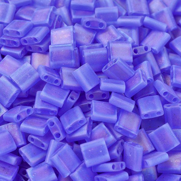 X SEED J020 TL150FR 1 MIYUKI TILA TL150FR Matte Transparent Sapphire Blue AB Seed Beads, 10g/Bag