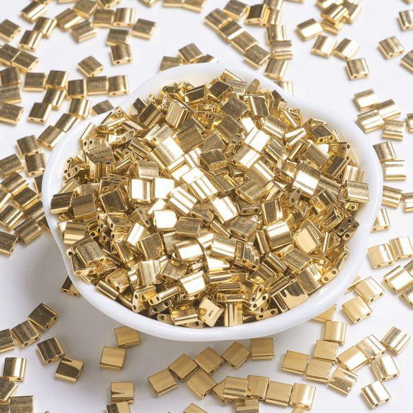 X SEED J020 TL191 MIYUKI TILA TL191 24kt Gold Plated Seed Beads, 10g/Tube