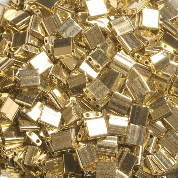 X SEED J020 TL191 2 MIYUKI TILA TL191 24kt Gold Plated Seed Beads, 10g/Bag
