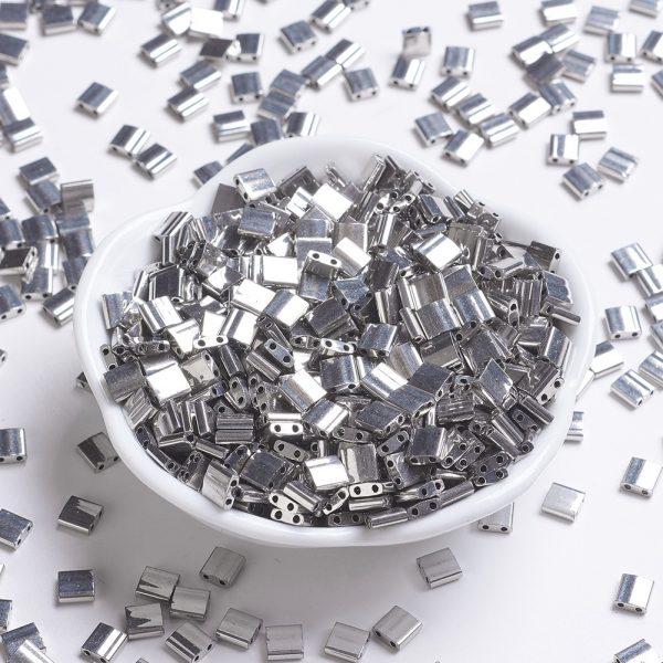 X SEED J020 TL194 MIYUKI TILA TL194 Palladium Plated Seed Beads, 100g/Bag