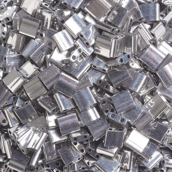 X SEED J020 TL194 3 MIYUKI TILA TL194 Palladium Plated Seed Beads, 100g/Bag