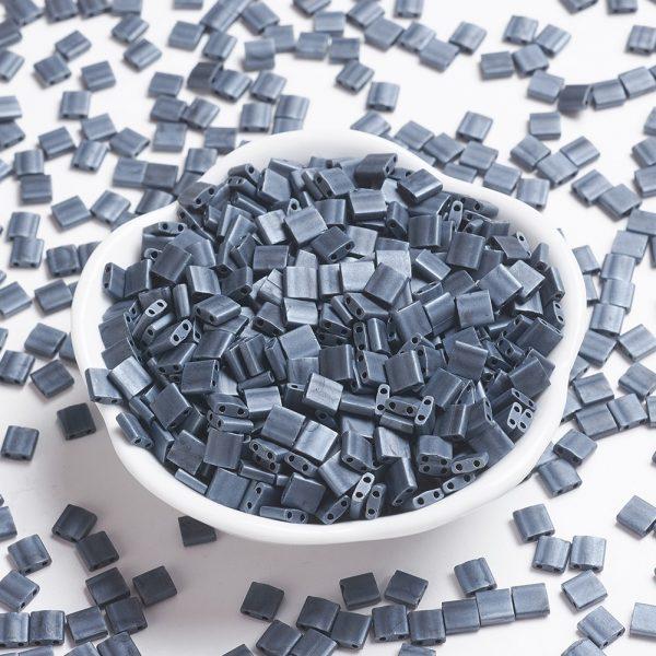 X SEED J020 TL2001 MIYUKI TILA TL2001 Matte Gunmetal Seed Beads, 10g/Bag