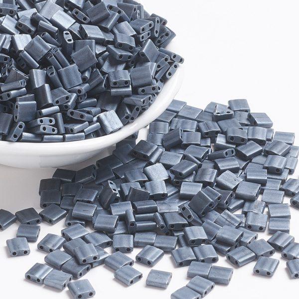 X SEED J020 TL2001 1 MIYUKI TILA TL2001 Matte Gunmetal Seed Beads, 100g/Bag