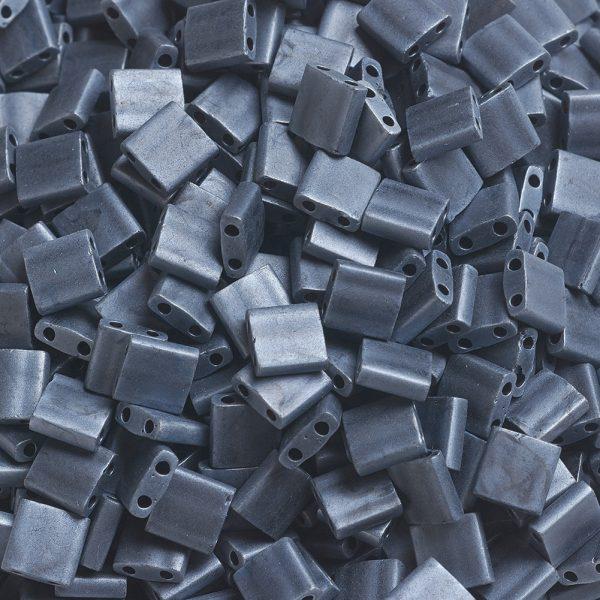 X SEED J020 TL2001 3 MIYUKI TILA TL2001 Matte Gunmetal Seed Beads, 100g/Bag
