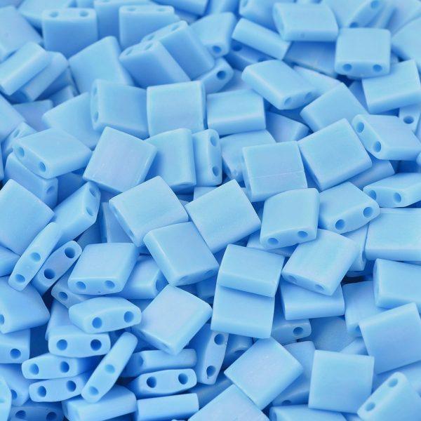 X SEED J020 TL413FR 1 MIYUKI TILA TL413FR Matte Opaque Turquoise Blue AB Seed Beads, 100g/Bag
