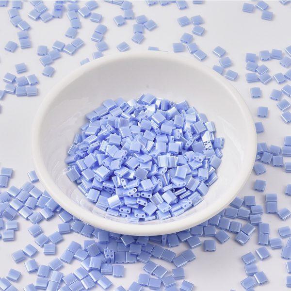 X SEED J020 TL446 MIYUKI TILA TL446 Opaque Light Periwinkle Luster Seed Beads, 50g/Bag