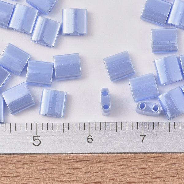 X SEED J020 TL446 2 MIYUKI TILA TL446 Opaque Light Periwinkle Luster Seed Beads, 50g/Bag