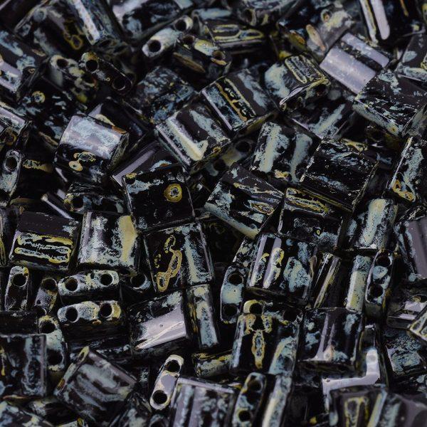 X SEED J020 TL4511 1 MIYUKI TILA TL4511 Black Picasso Seed Beads, 100g/Bag