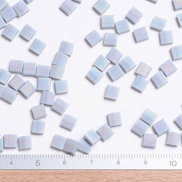 X SEED J020 TL498FR 2 MIYUKI TILA TL498FR Matte Opaque Gray AB Seed Beads, 10g/Bag