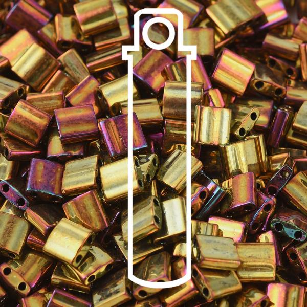 MIYUKI TILA TL462 Metallic Gold Iris Seed Beads, 10g/Tube