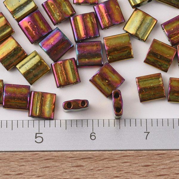 SEED J020 TL0462 2 MIYUKI TILA TL462 Metallic Gold Iris Seed Beads, 50g/Bag