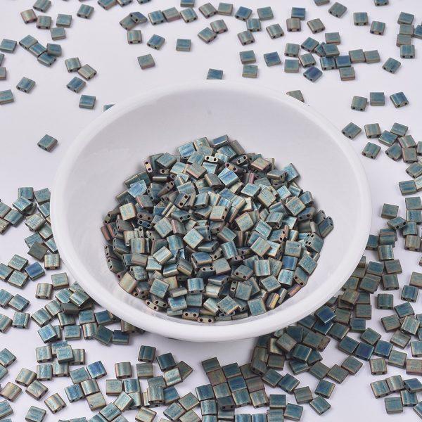 SEED J020 TL2008 MIYUKI TILA TL2008 Matte Metallic Patina Iris Seed Beads, 50g/Bag