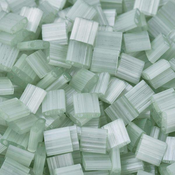 SEED J020 TL2560 1 MIYUKI TILA TL2560 Silk Pale Light Green Seed Beads, 100g/Bag