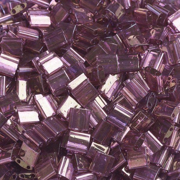SEED J020 TL316 3 MIYUKI TILA TL316 Light Amethyst Gold Luster Seed Beads, 50g/Bag