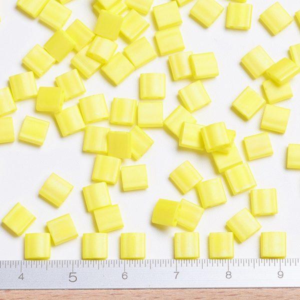 SEED J020 TL404FR 2 MIYUKI TILA TL404FR Matte Opaque Yellow AB Seed Beads, 50g/Bag