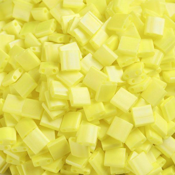 SEED J020 TL404FR 3 MIYUKI TILA TL404FR Matte Opaque Yellow AB Seed Beads, 50g/Bag