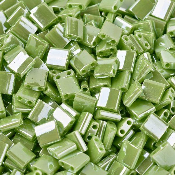 SEED J020 TL439 1 MIYUKI TILA TL439 Opaque Chartreuse Luster Seed Beads, 50g/Bag