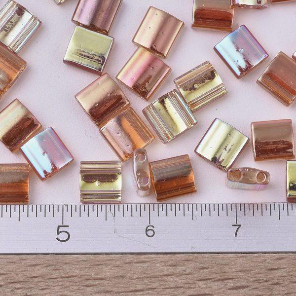 SEED J020 TL4576 2 MIYUKI TILA TL4576 Crystal Orange Rainbow Seed Beads, 10g/Tube