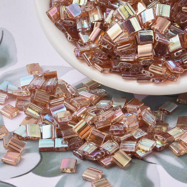 SEED J020 TL4576 3 MIYUKI TILA TL4576 Crystal Orange Rainbow Seed Beads, 10g/Bag