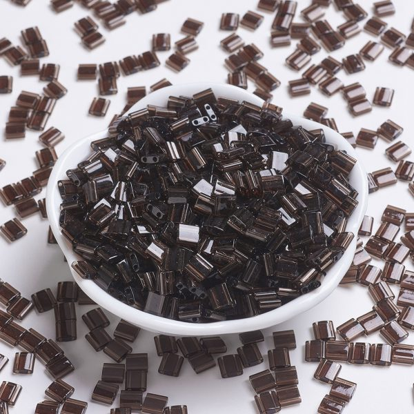 SEED JP0008 TL135 MIYUKI TILA TL135 Transparent Root Beer Seed Beads, 10g/Bag