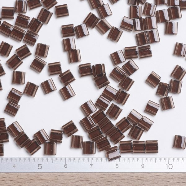 SEED JP0008 TL135 2 MIYUKI TILA TL135 Transparent Root Beer Seed Beads, 10g/Bag