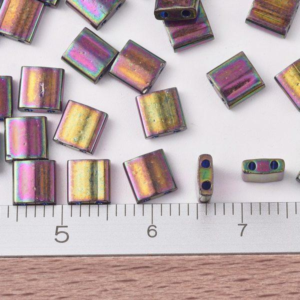 SEED JP0008 TL1893 2 MIYUKI TILA TL1893 Plum Gold Luster Seed Beads, 10g/Bag