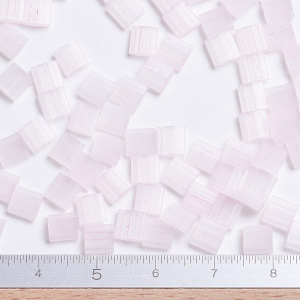 SEED JP0008 TL2594 2 MIYUKI TILA TL2594 Silk Pale Light Pink Seed Beads, 100g/Bag