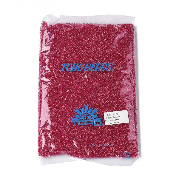 SEED TR11 0165B 4 0 TOHO #165B Round Seed Beads, Transparent AB Siam Ruby 11/0, 2.2mm, Hole: 0.8mm, about 50000pcs/450g