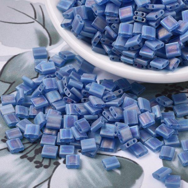 SEED X0054 TL0149FR 3 MIYUKI TILA TL149FR Matte Transparent Capri Blue Seed Beads, 10g/Bag