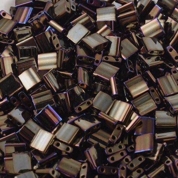 SEED X0054 TL0458 1 MIYUKI TILA TL458 Metallic Brown Iris Seed Beads, 10g/Bag