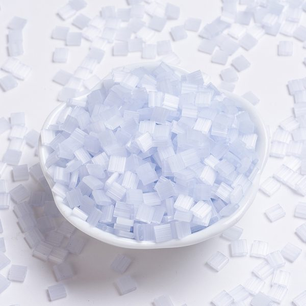 SEED X0054 TL2563 MIYUKI TILA TL2563 Silk Pale Light Lavender Seed Beads, 10g/Bag