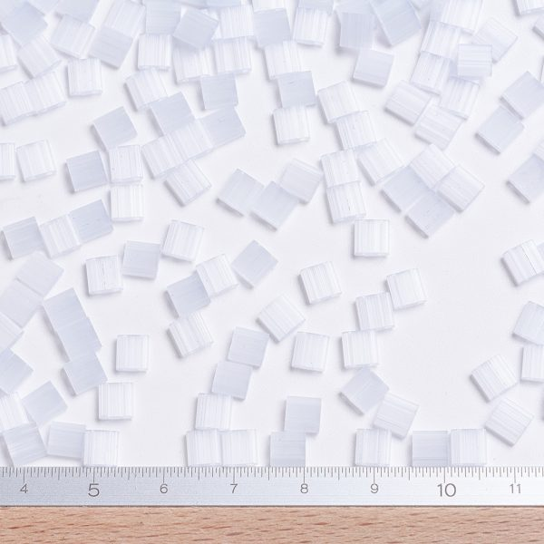SEED X0054 TL2563 2 MIYUKI TILA TL2563 Silk Pale Light Lavender Seed Beads, 10g/Bag