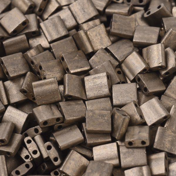 X SEED J020 TL2006 1 MIYUKI TILA TL2006 Matte Metallic Dark Bronze Seed Beads, 50g/Bag