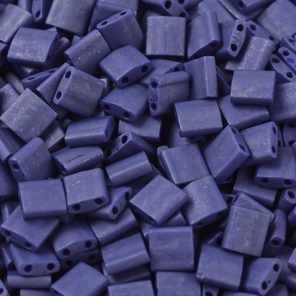 X SEED J020 TL2075 1 MIYUKI TILA TL2075 Matte Opaque Cobalt Luster Seed Beads, 10g/Bag