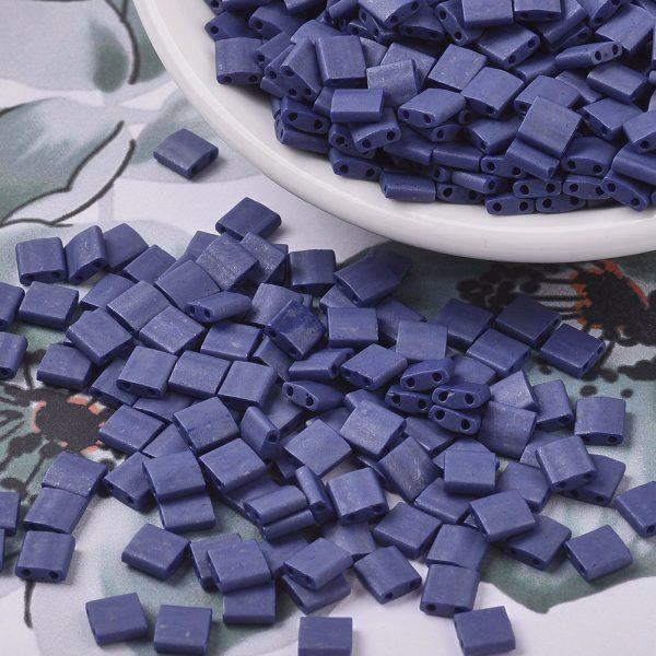 X SEED J020 TL2075 3 MIYUKI TILA TL2075 Matte Opaque Cobalt Luster Seed Beads, 10g/Bag