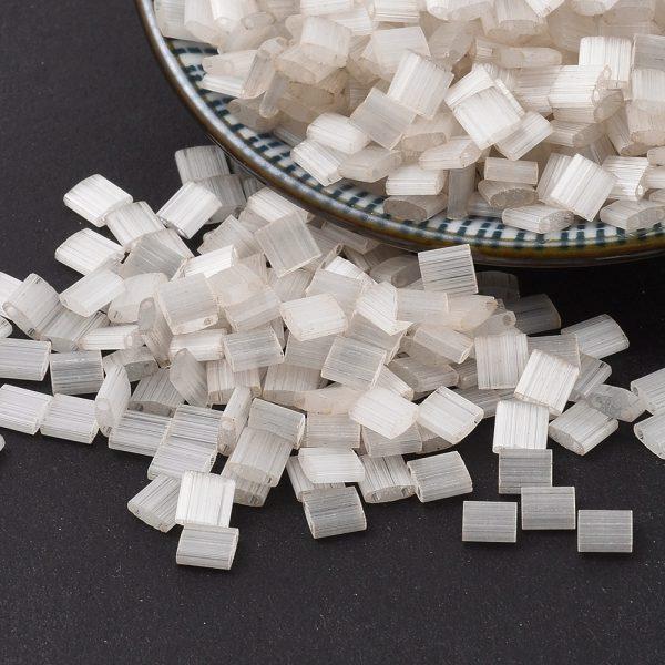 X SEED J020 TL2592 1 MIYUKI TILA TL2592 Antique Ivory Silk Satin Seed Beads, 50g/Bag