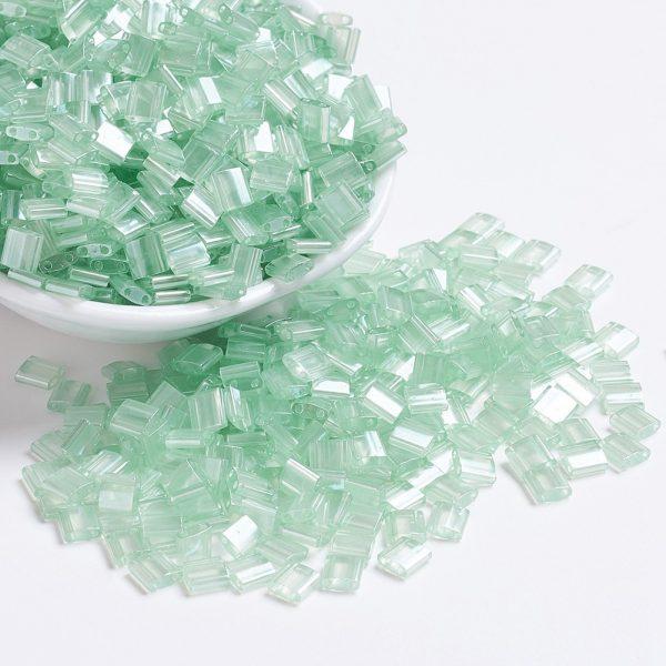 X SEED J020 TL370 1 MIYUKI TILA TL370 Sea Foam Luster Seed Beads, 100g/Bag