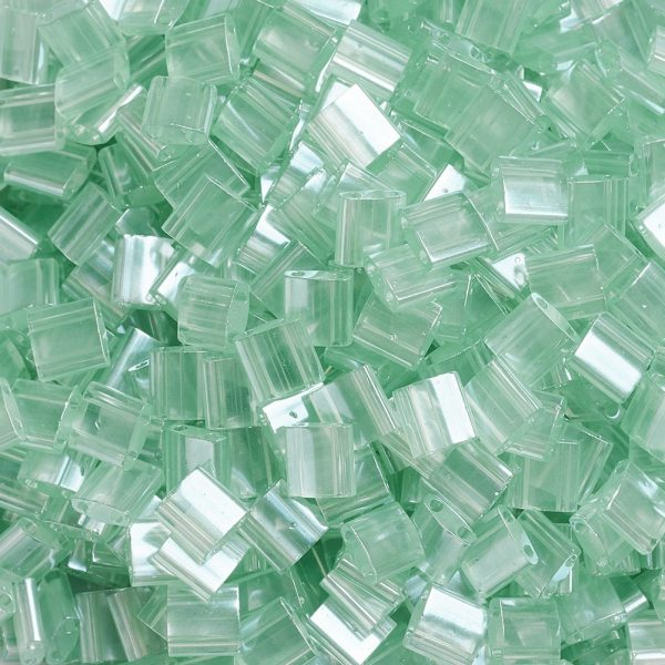 X SEED J020 TL370 3 MIYUKI TILA TL370 Sea Foam Luster Seed Beads, 100g/Bag