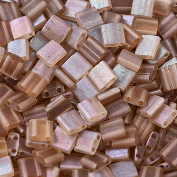 X SEED J020 TL4578 1 MIYUKI TILA TL4578 Crystal Celsian Matte Seed Beads, 100g/Bag