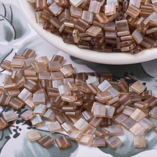 X SEED J020 TL4578 3 MIYUKI TILA TL4578 Crystal Celsian Matte Seed Beads, 100g/Bag