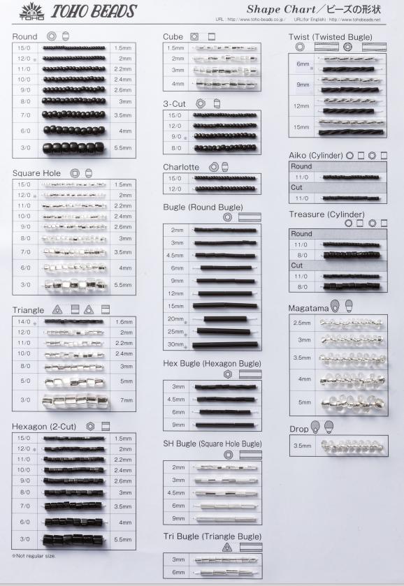 200 TOHO Sample Cards | #200 - Shape Chart, Free Download