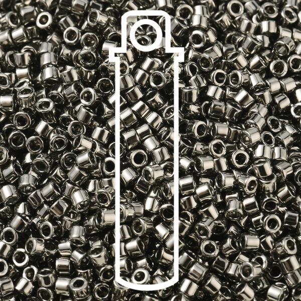 SEED JP0008 DB0021 1 MIYUKI DB0021 Delica Beads 11/0 - Opaque Nickel Plated, 10g/tube