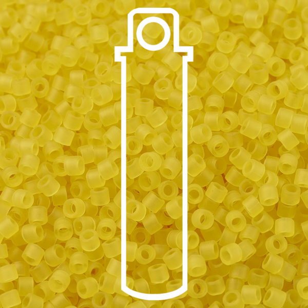 SEED JP0008 DB0743 1 MIYUKI DB0743 Delica Beads 11/0 - Matte Transparent Yellow, 10g/tube