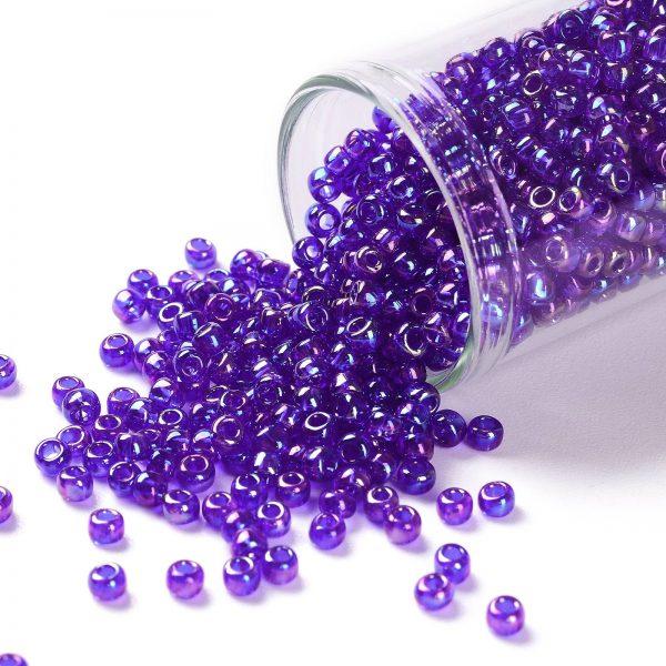 SEED TR08 0087 TOHO #87 8/0 Transparent AB Cobalt Round Seed Beads, 450g/bag